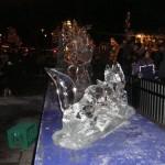 Et år til Jul var der japanere der fremstillede is skulpturere.