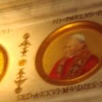 Galleri fra kirken hvor alle paver gennem tiden er portræteret.